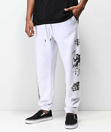 Lurking Class by Sketchy Tank Dead pantalones deportivos en blanco