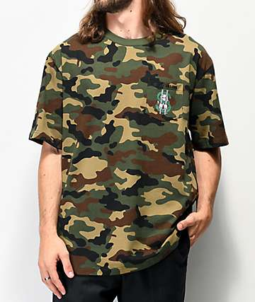 Lurking Class by Sketchy Tank Freedom Camo T-Shirt