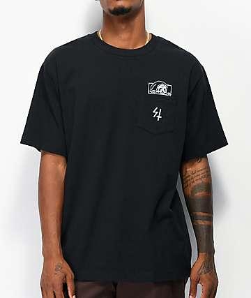 Lurking Class by Sketchy Tank High Density Lurker camiseta negra con bolsillo
