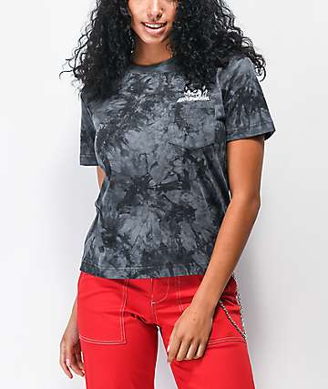 Lurking Class by Sketchy Tank Horns Black Tie Dye T-Shirt