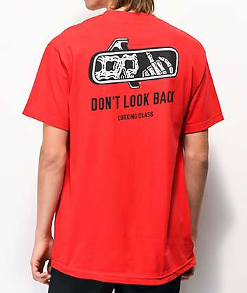 Lurking Class by Sketchy Tank Look Back Red T-Shirt