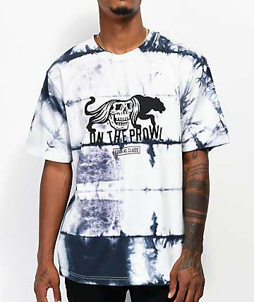 Lurking Class by Sketchy Tank On The Prowl White Tie Dye T-Shirt