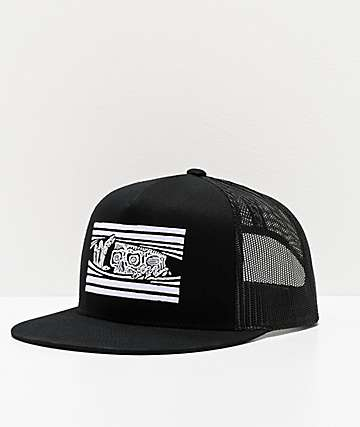 Lurking Class by Sketchy Tank Peeking Black Trucker Hat