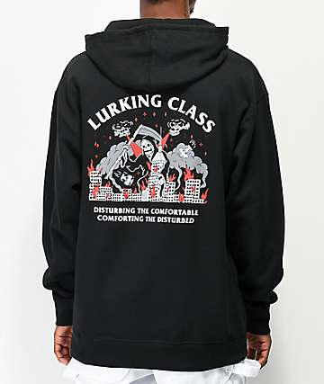 Lurking Class by Sketchy Tank Rampage Black Hoodie