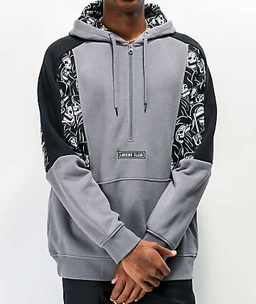 Lurking Class by Sketchy Tank Reaper sudadera con capucha gris y negro