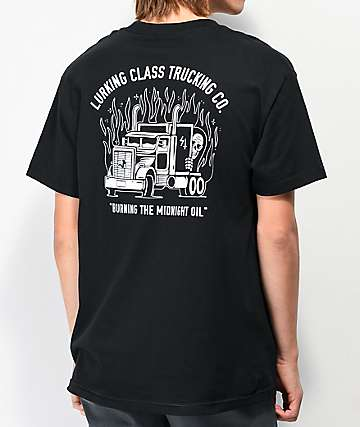 Lurking Class by Sketchy Tank Trucking Co Black T-Shirt