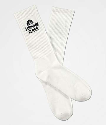 Lurking Class by Sketchy Tank White Crew Socks