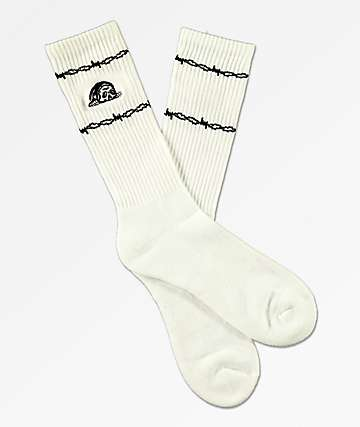 Lurking Class by Sketchy Tank Wired White Crew Socks