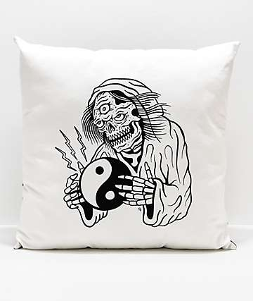 Lurking Class by Sketchy Tank Yin Yang Pillow