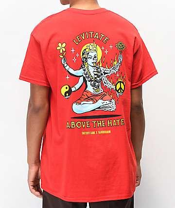 Lurking Class by Sketchy Tank x Samborghini Levitate Red T-Shirt
