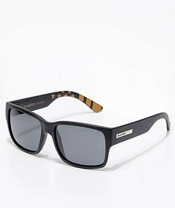 Madson Classico Black Flag & Grey Polarized Sunglasses