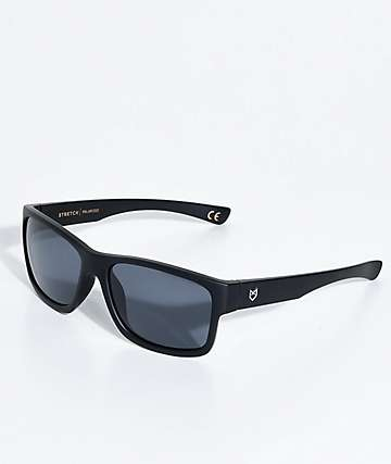 Madson Stretch Matte Black & Grey Polarized Sunglasses