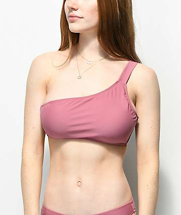 Malibu Mauve One Shoulder Bikini Top