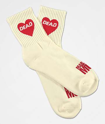 Married To The Mob Dead Heart White Ankle Socks
