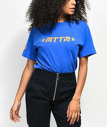 Married To The Mob Star Logo Blue T-Shirt