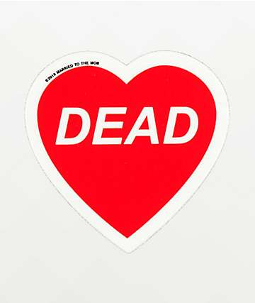 Married To the Mob Dead Heart Sticker