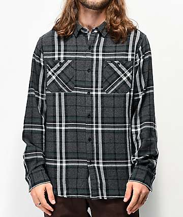 Matix Beryl Black, Grey & Green Flannel Shirt