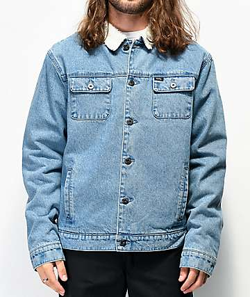 Matix Crew Trucker Sherpa Lined Denim Jacket