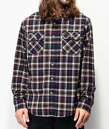 Matix Gardenia Blue, Brown & Red Flannel Shirt
