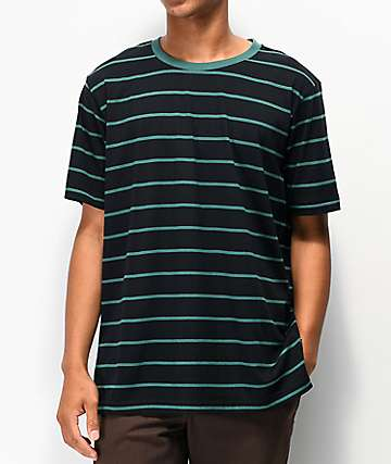 Matix Gordie Black & Green Stripe T-Shirt