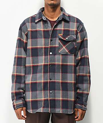 Matix Humboldt Sherpa Black Flannel Shirt Jacket