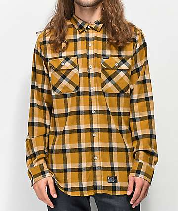 Matix Norfolk Gold & Black Flannel Shirt