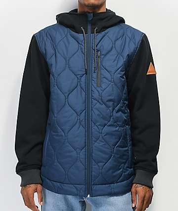 Matix Pinnacle Asher Navy & Black 2Fer Vest Hoodie