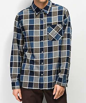 Matix Point Blue & Khaki Flannel Shirt