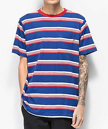 Matix Sets Blue & Red Striped Knit T-Shirt