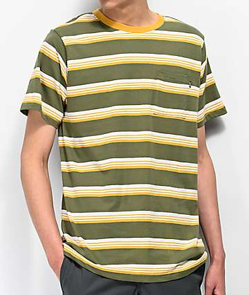 Matix Sets Sage & Yellow Striped T-Shirt