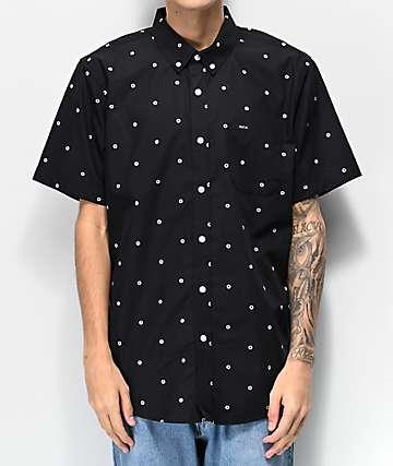Matix Sunny Polka Dot Woven Short Sleeve Button Up Shirt