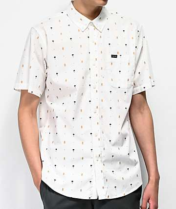 Matix Traveler Off-White Short Sleeve Button Up Shirt