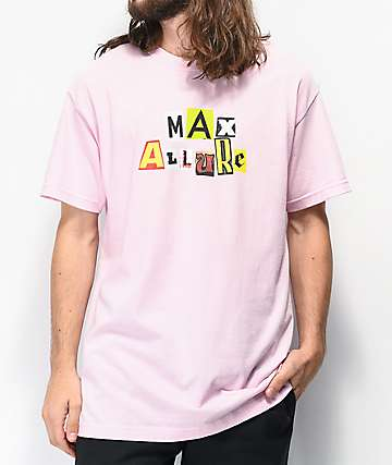 Maxallure Illusion Type Pink T-Shirt