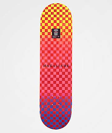 "Maxallure Lets Go 8.0"" Blue & Red Skateboard Deck"