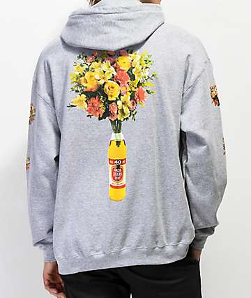 Meet Here For Beers 40oz. Of Beauty Grey Hoodie