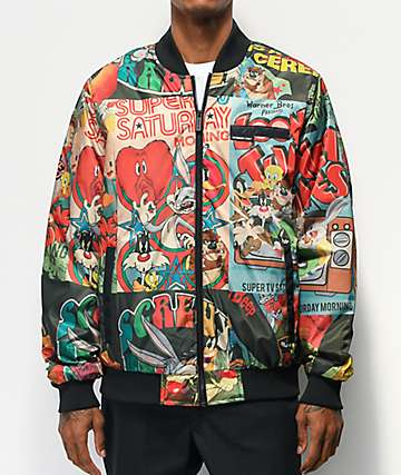 Members Only x Looney Tunes Black Bomber Jacket