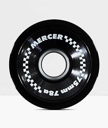 Mercer 75mm 78a Black Longboard Wheels