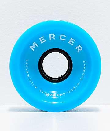 Mercer Blue 70mm 78a Longboard Wheels