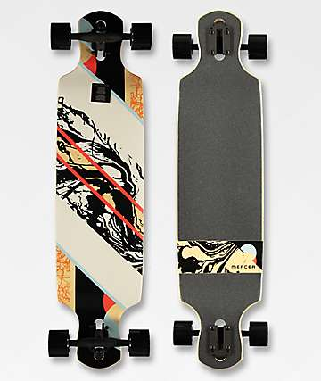 "Mercer Exposed 38"" Double Drop Longboard Complete"