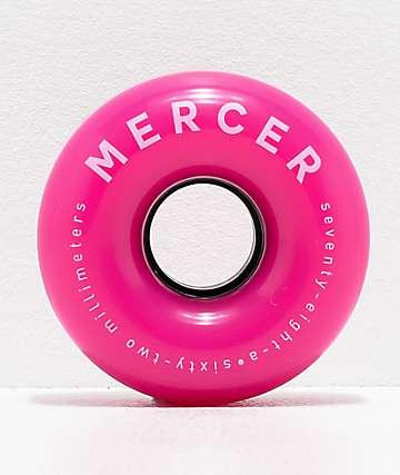 Mercer Pink 65mm 78a Cruiser Skateboard Wheels