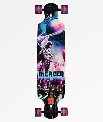 "Mercer Surreal 38"" Double Drop Longboard Complete"