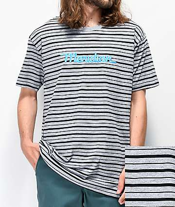Meridian Grey Stripe T-Shirt