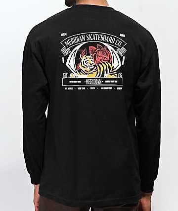Meridian Jungle Black Long Sleeve T-Shirt