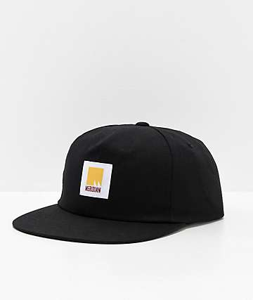 Meridian Skateboards Flag Black Snapback Hat