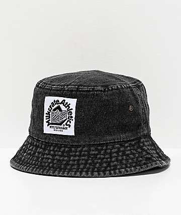 Milkcrate Black Washed Denim Bucket Hat
