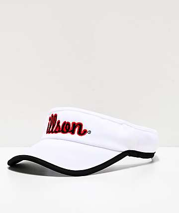 Milkcrate Illson White, Red & Black Visor