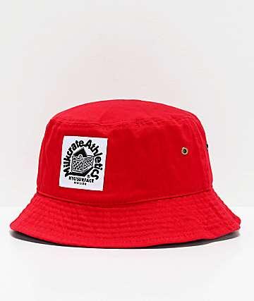 Milkcrate Solid sombrero de cubo rojo