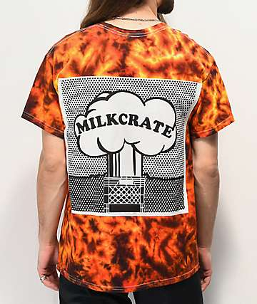 Milkcrate XXXplosion Orange Tie Dye T-Shirt