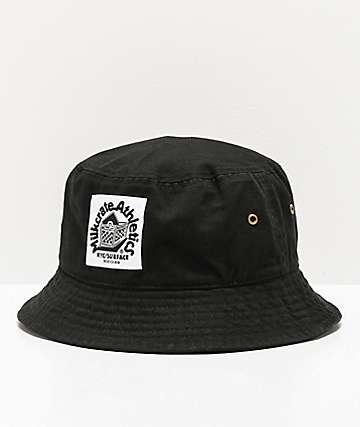 Milkcrate sombrero de cubo negro solido