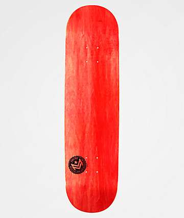 "Mini Logo Chevron Stamp Red 8.25"" Skateboard Deck"